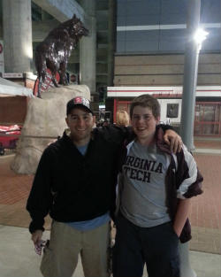 Dad and Trent NC State