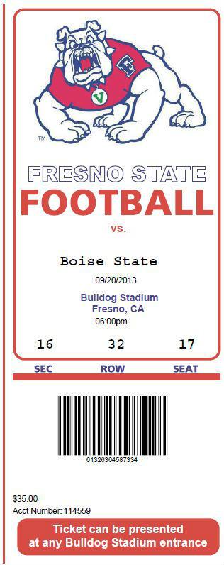 Fresno State Ticket