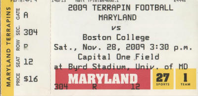 Maryland Ticket