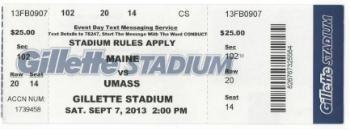 Umass vs Maine Ticket
