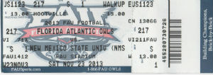 FAU Ticket