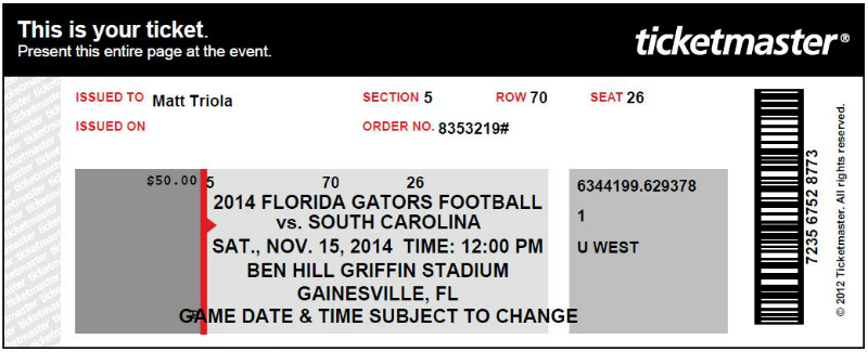 Florida Ticket web